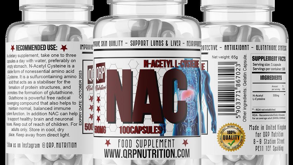 QRP Nutrition NAC 500mg 100capsules