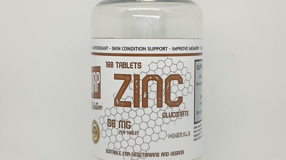QRP Nutrition ZINC 50mg 100tabs