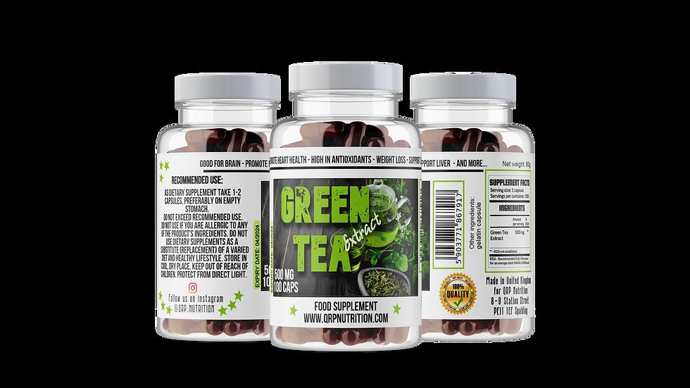 QRP Nutrition GREEN TEA extract 500mg 100caps