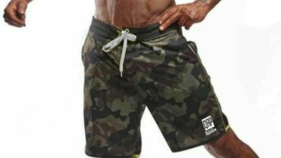 QRP Nutrition Men Camo Beach Shorts