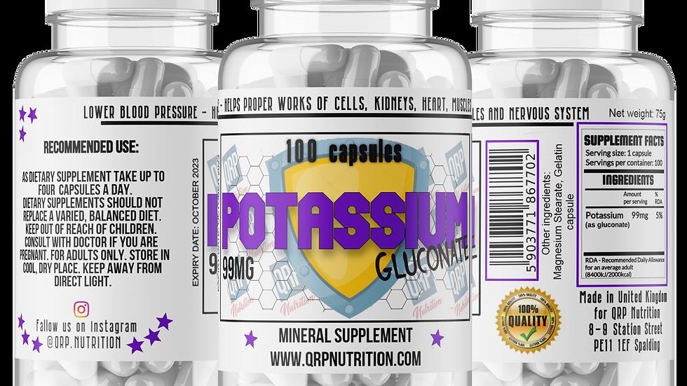 QRP Nutrition POTASSIUM 99mg 100capsules
