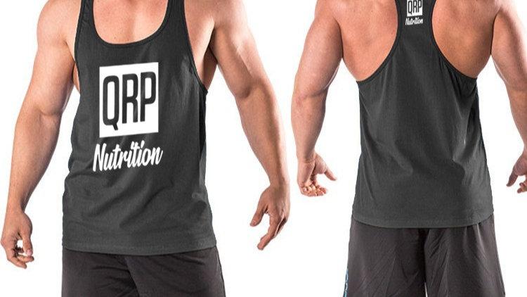 QRP Nutrition Black Gym Vest