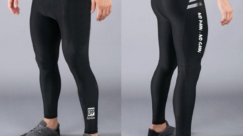 QRP Nutrition black leggins for men