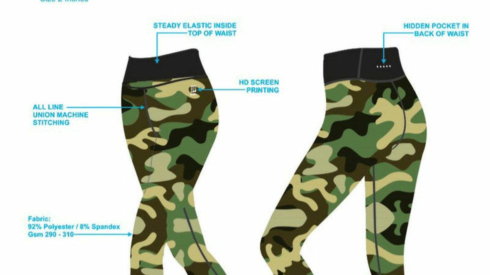 QRP Nutrition Camo Set Top+leggins