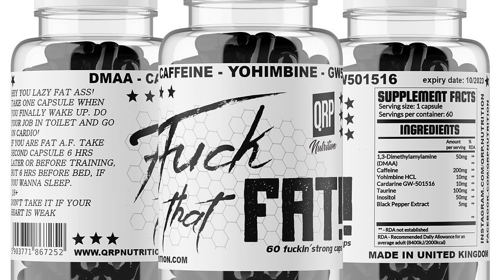 QRP Nutrition Fuck That Fat (60capsules)