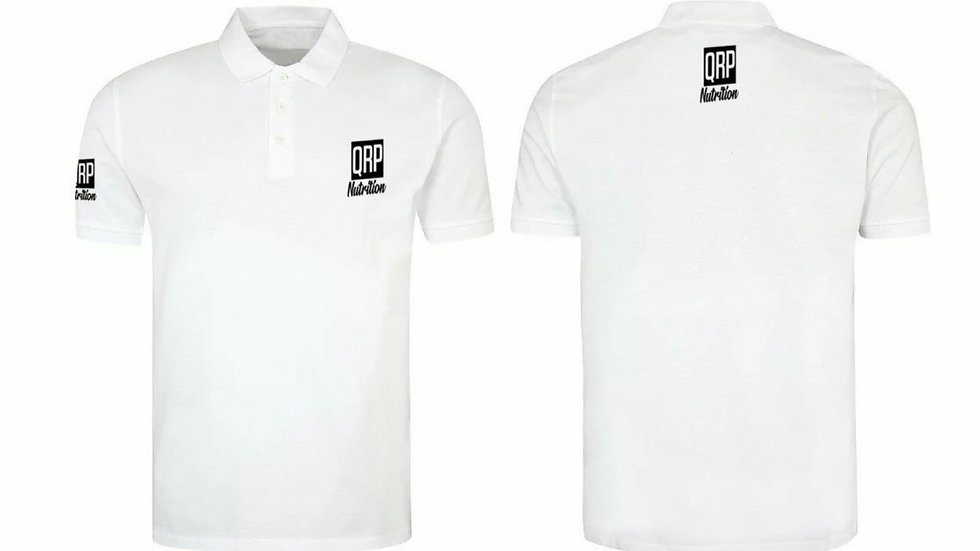 QRP Nutrition White Polo