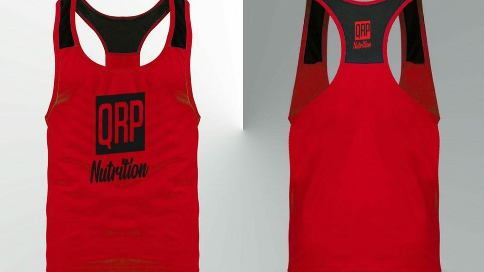 QRP Nutrition Red Gym Vest