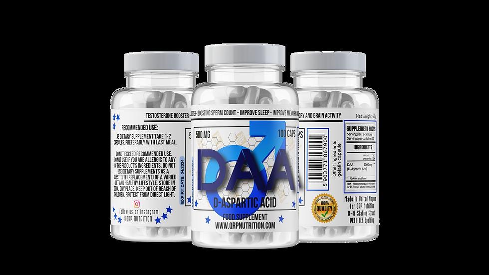 QRP Nutrition DAA (D-Aspartic Acid) 1000mg 100caps