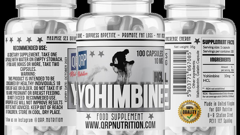 QRP Nutrition Yohimbine HCL 5/10mg 100capsules