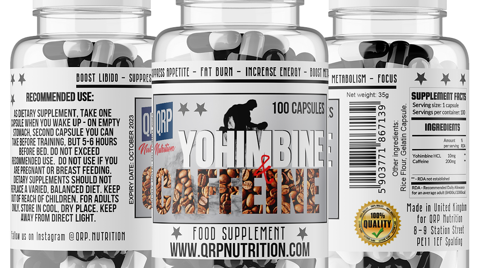 QRP Nutrition Yohimbine+Caffeine (100capsules)