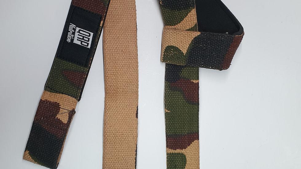 QRP Nutrition Deadlift straps (camo colour)