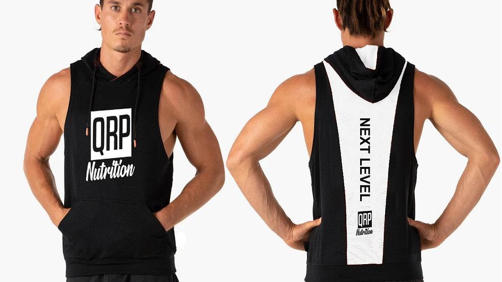 QRP Nutrition Black&White hoodie gym vest