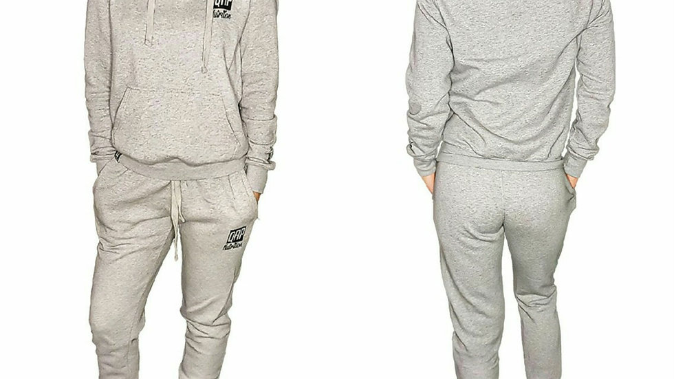 QRP Nutrition Bad Ass Girl grey cotton tracksuit
