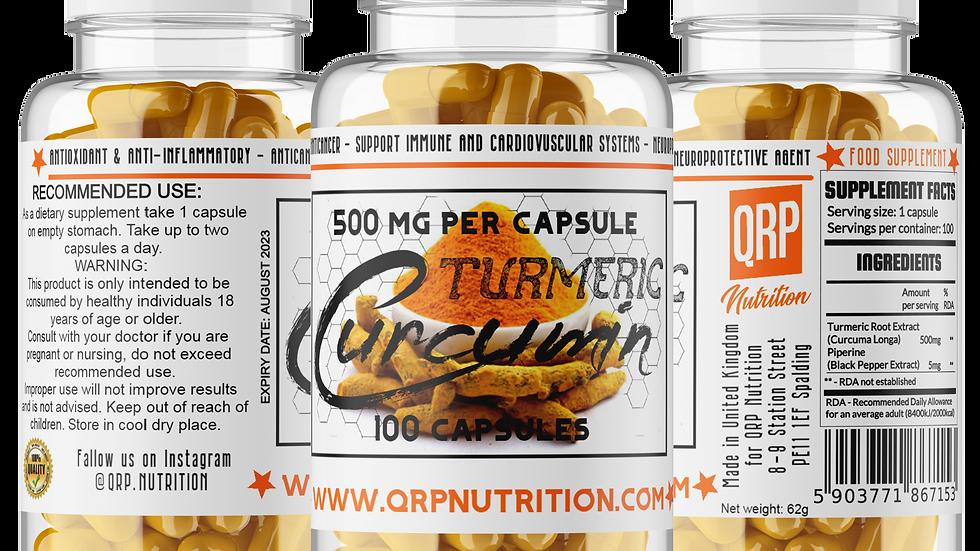 QRP Nutrition Curcumin Turmeric 500mg 100caps