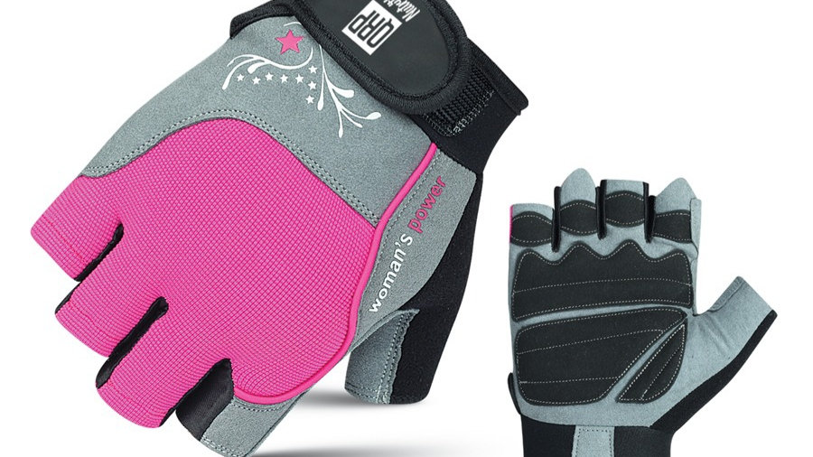 QRP Nutrition Pink Gym gloves