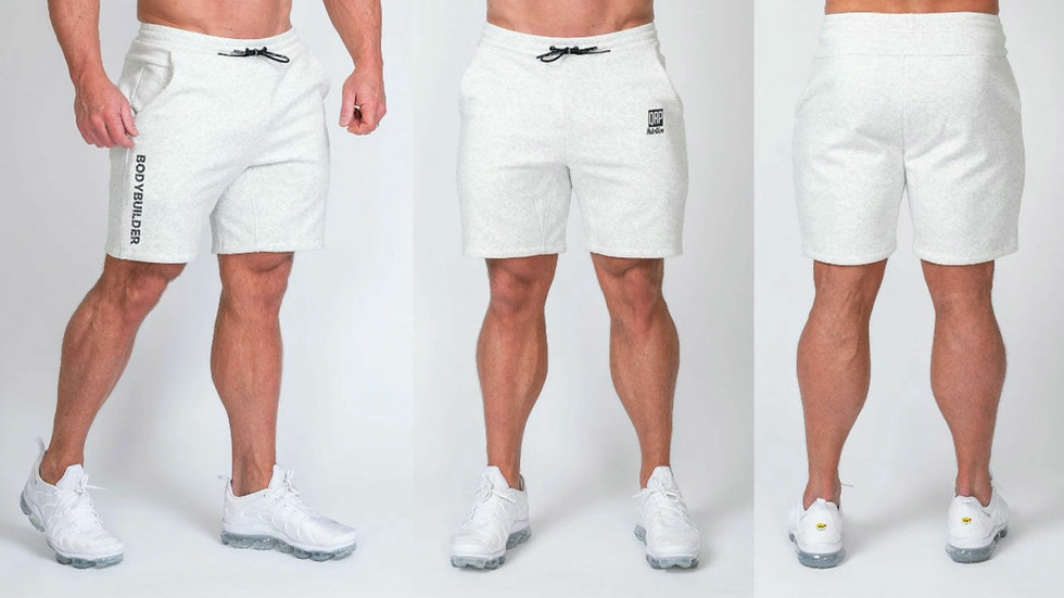 QRP Nutrition White Men Shorts Bodybuilder
