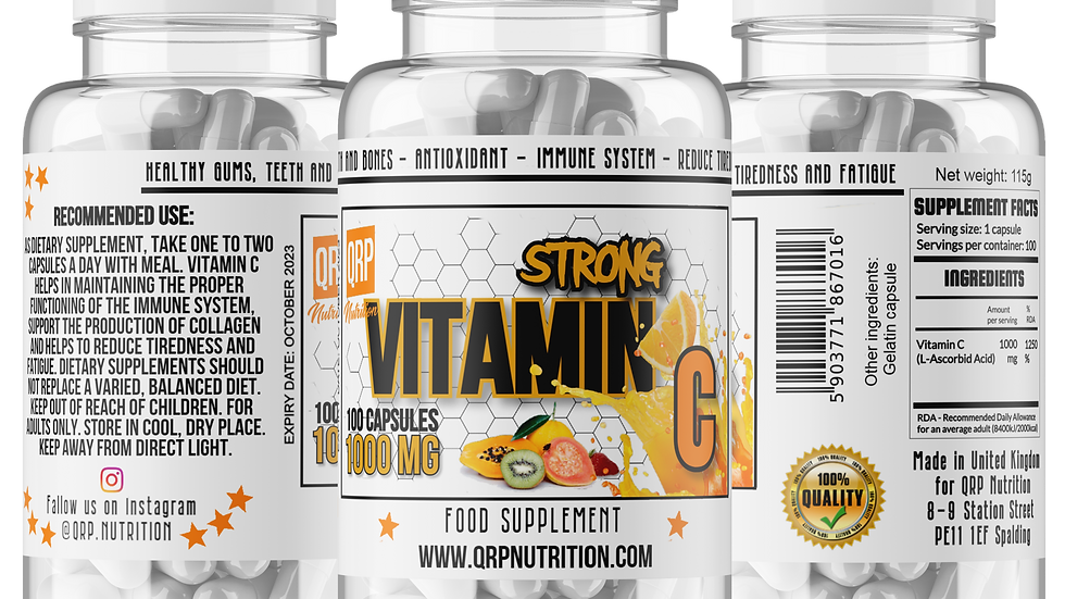 QRP Nutrition Vitamin C Strong 1000mg 100caps