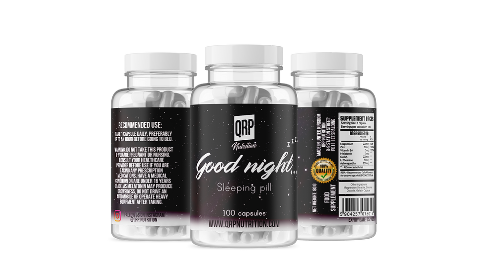 QRP Nutrition GOOD NIGHT Sleeping Pill (100caps)