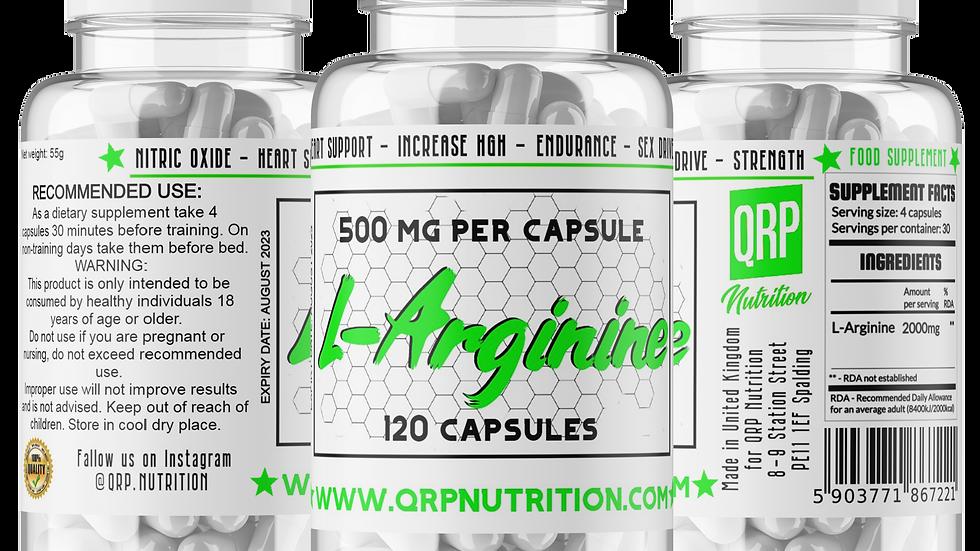QRP Nutrition L-Arginine 500mg 120capsules