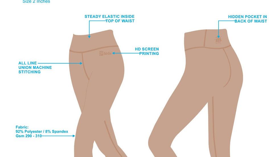 QRP Nutrition Khaki Lady set top + leggins