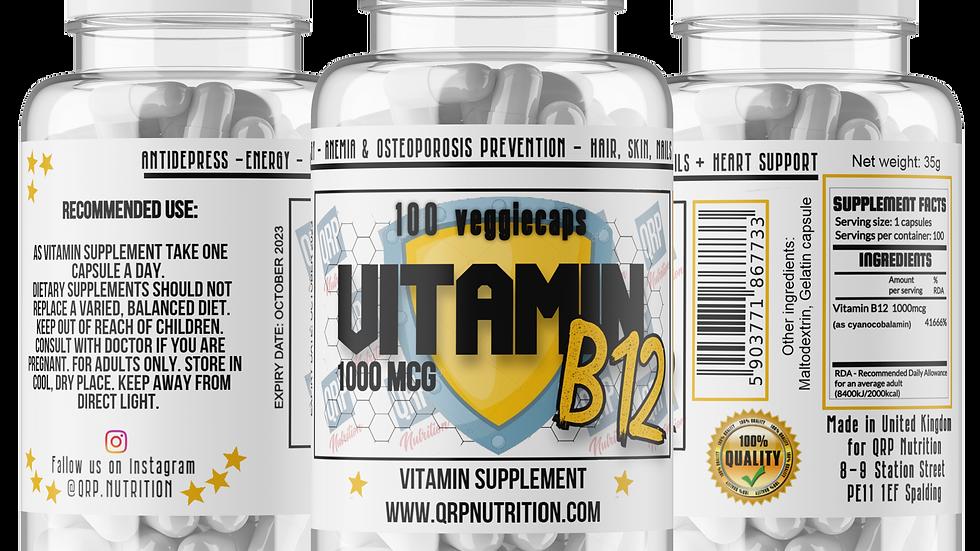 QRP Nutrition VITAMIN B12 1000mcg 100vcaps