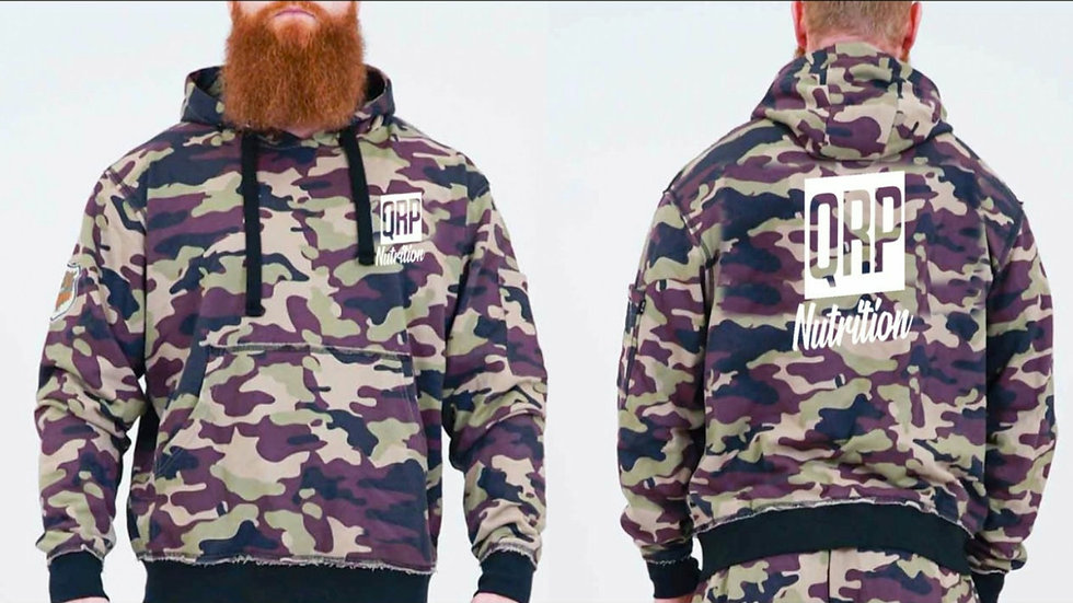 QRP Nutrition Camo hoodie for men
