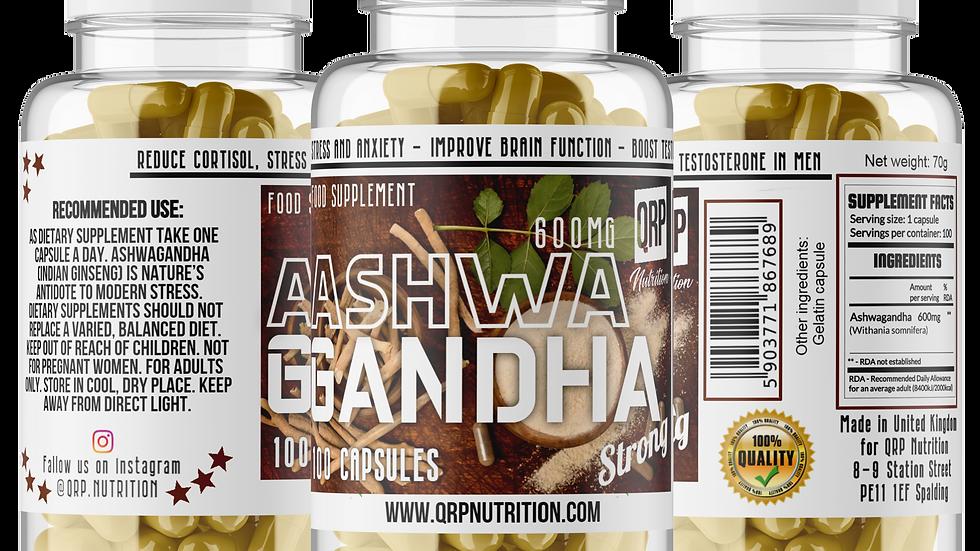 QRP Nutrition ASHWAGANDHA 600mg 100capsules