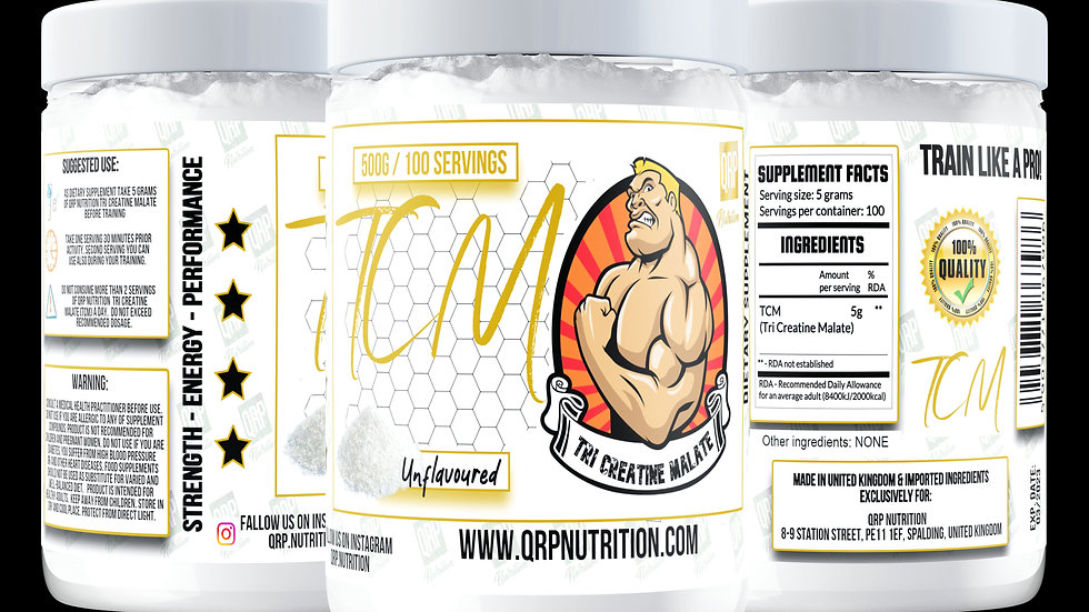 QRP Nutrition TCM (TriCreatineMalate) 500g