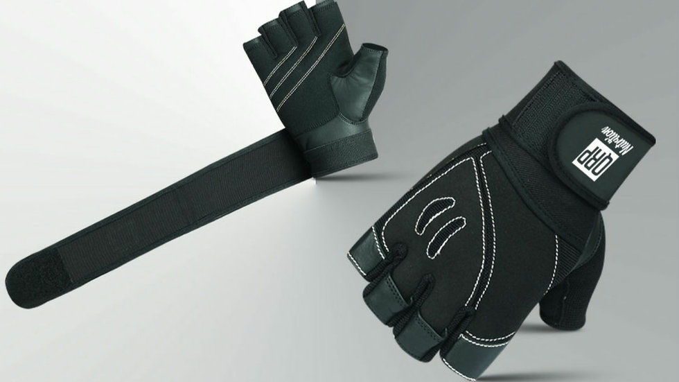 QRP Nutrition Black Gym Gloves