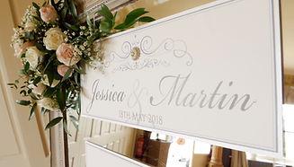 Wedding stationery on wedding video