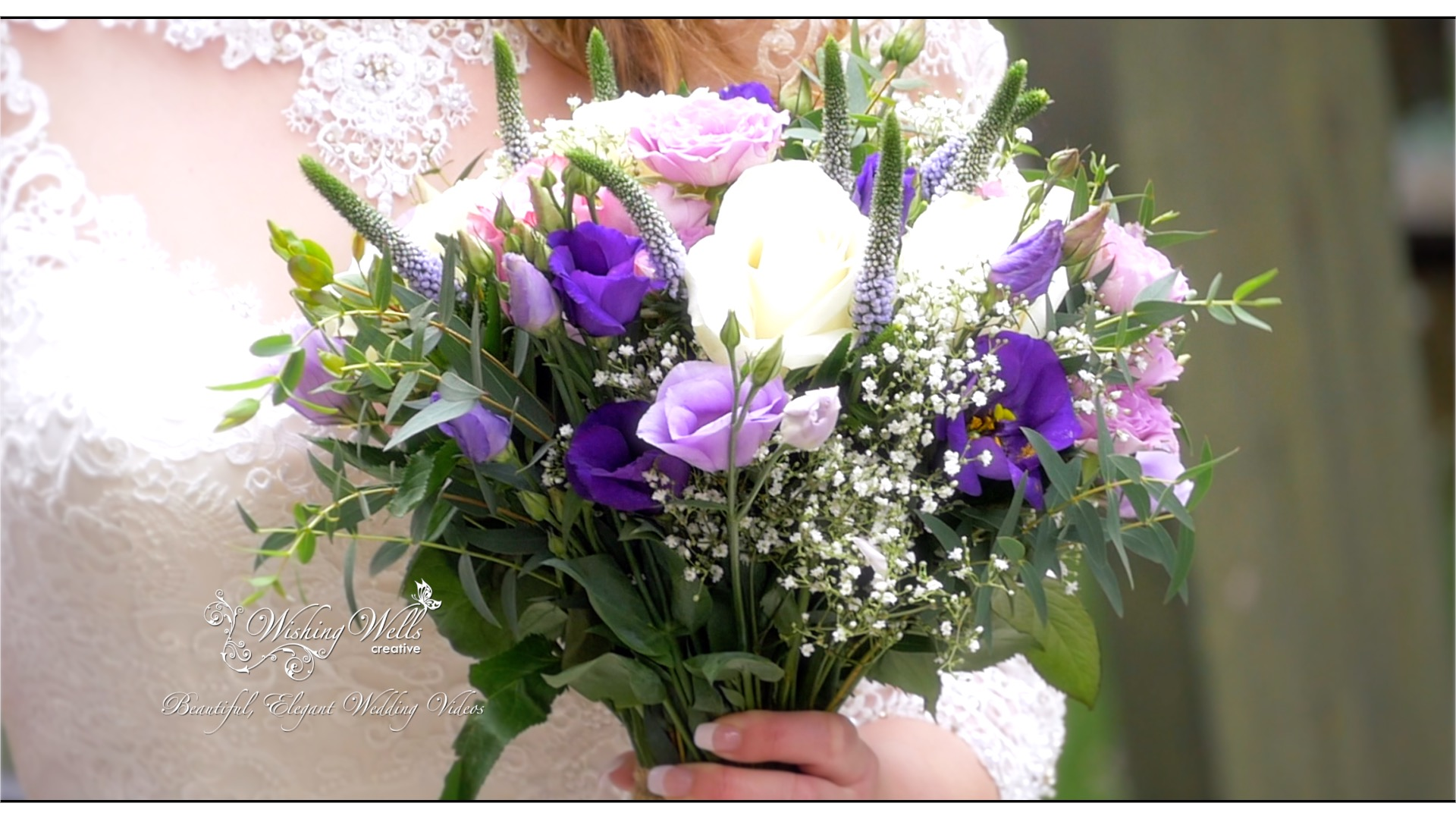 spring wedding bouquet in lilac