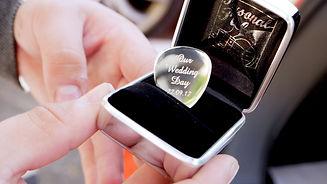 Personalised Wedding Gift: Plectrum