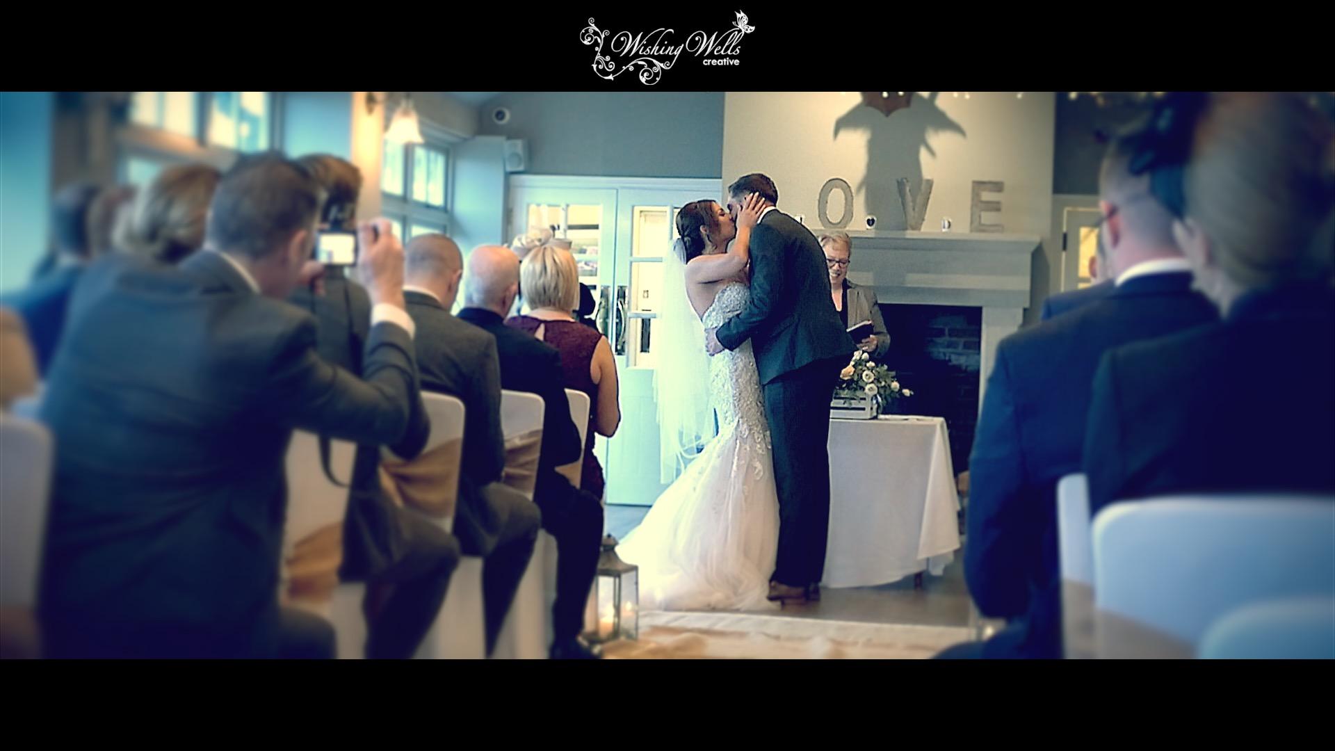 First kiss as man & wife at alma inn