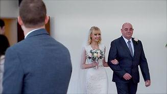 Bride walks down the aisle, cheshire wedding video