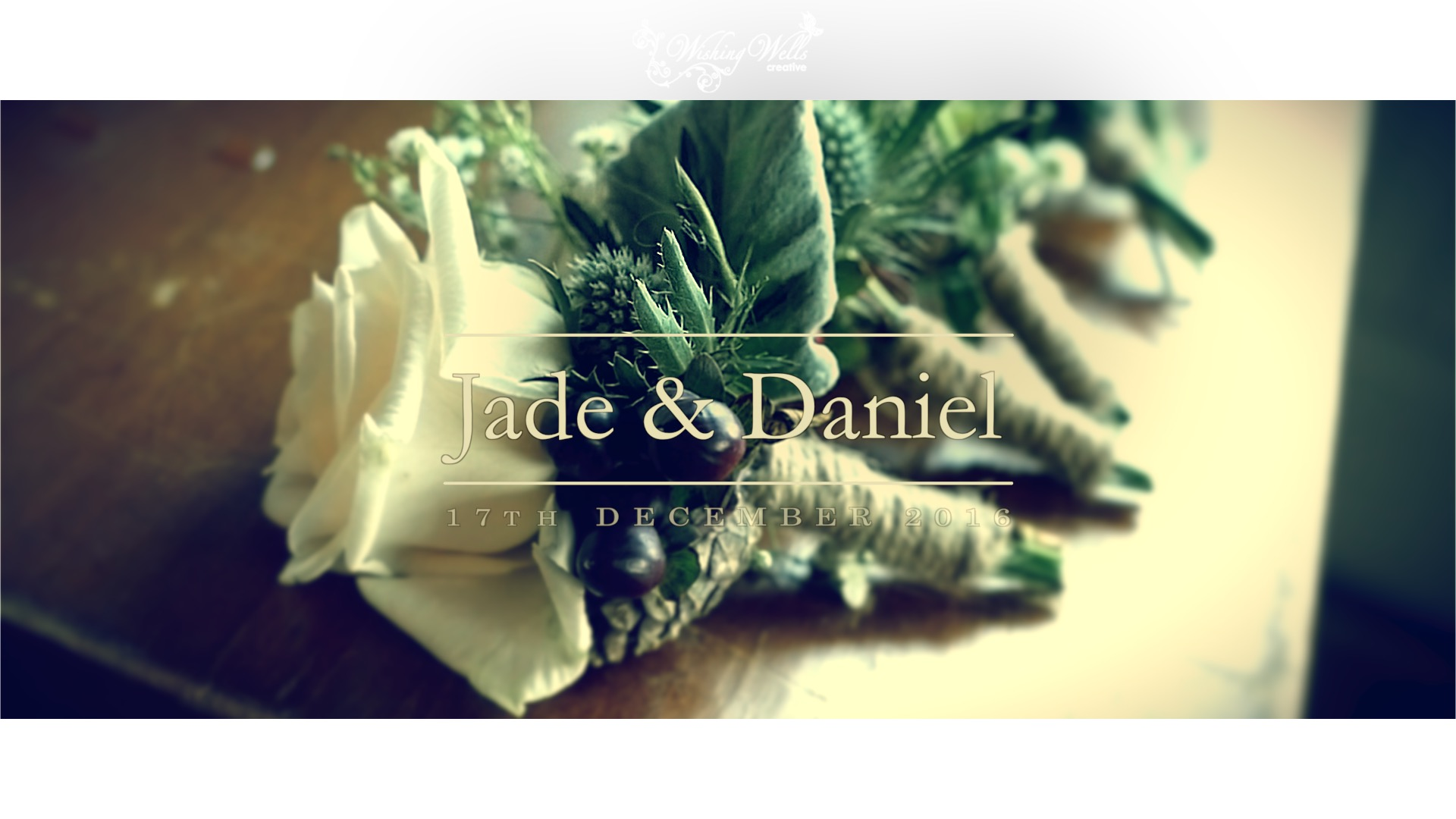 Jade and Daniel wedding title