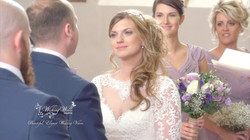 bride looks at groom during vows