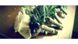 winter wedding buttonhole flowers