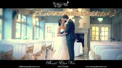 bride & groom kiss after wedding