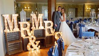 Mr & Mrs Lights for wedding reception