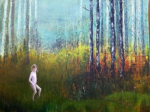 Louise Villa, The Faun / Lone Dancer, 80 x 100cm