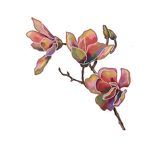 MELANIE SCHÖNIGER, Magnolia, LEP, edition of 100,30 cmx 30 cm, 2019
