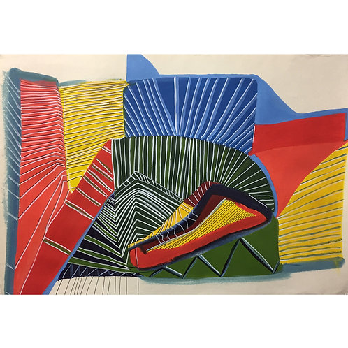 Cynthia Rojas, Sucking Up, ink and acrylic on handmade paper, 70 cm x 99 cm, 201