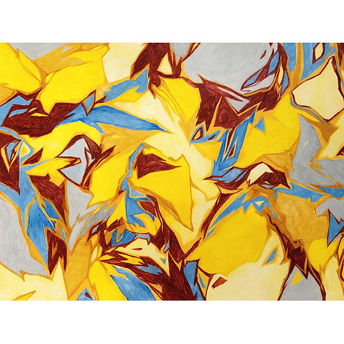 Weronika Piórek, Untitled 5, Crayons on paper, 50 x 65 cm, 2019
