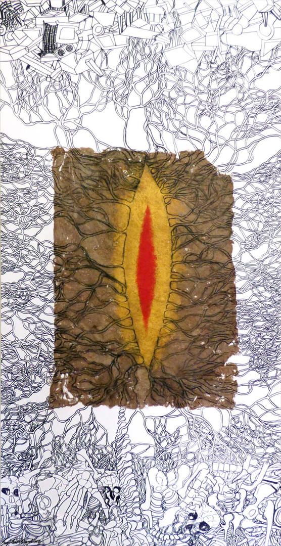 18. Sajitha R. Shankar, Archetypes, 182 x 91 cm, 2008