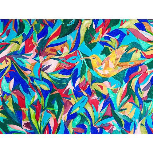 Weronika Piórek, Untitled 3, Crayons on paper, 50 x 65 cm, 2019