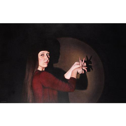 Sandra De Jaume, Shadow Game, acrylic on canvas, 90 x 140 cm, 2016