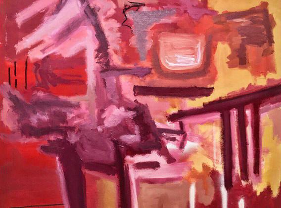 "Caitlin Flood-Molyneux, ""Crossroads"" - 100 x 100 cm, 2019"