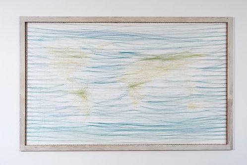 JUTTA OBERHUBER, Worldmap, 125 x 200 cm