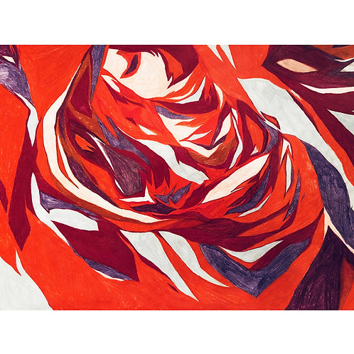 Weronika Piórek, Untitled 1, Crayons on paper, 50 x 65 cm, 2019
