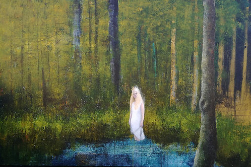 Louise Villa, Deep in the Woods, 80 x 100cm